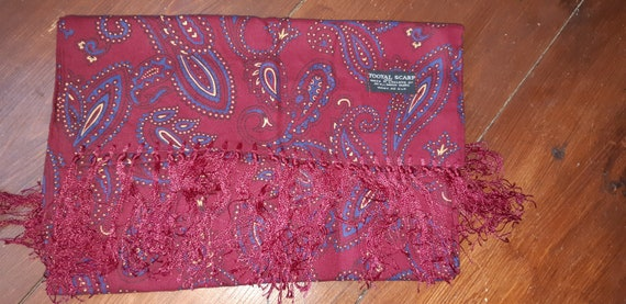 1940s mens Tootal silk scarf