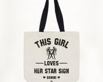 a926d3de1f42 Gemini Women s Zodiac Star Sign Tote Bag