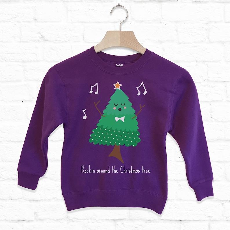 Rockin Around The Christmas Tree Kids Sweatshirt