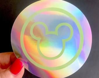 Welcome to the Magic Mickey Park Scanner Holographic Sticker Sticker