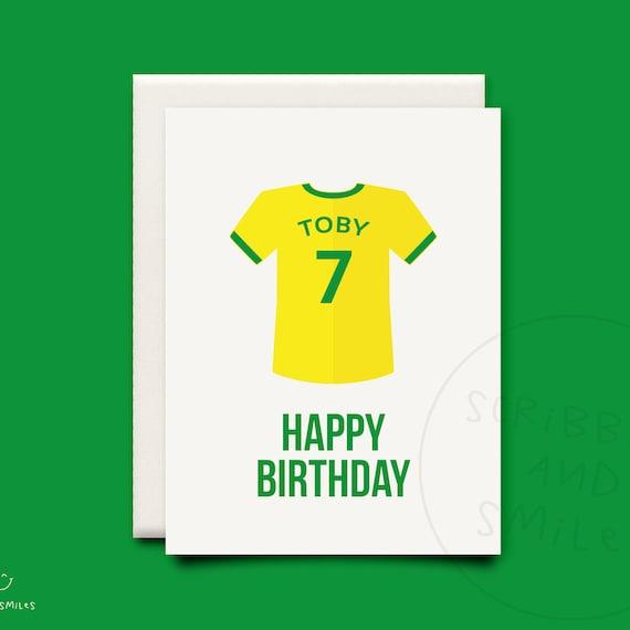 Geburtstagskarte Fussball Kinder Grusskarte Alles Gute Zum Geburtstag Karten Fussball Geburtstag Fussballtrikot