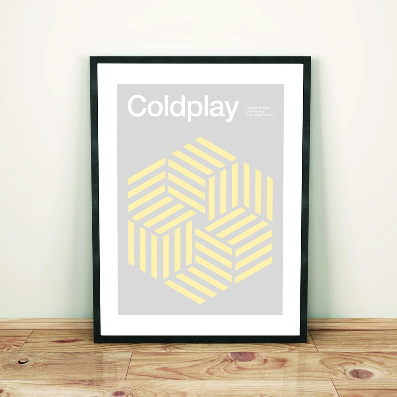 Remixed PrintMusic Gig PosterArt Coldplay Poster eWEI29YDH