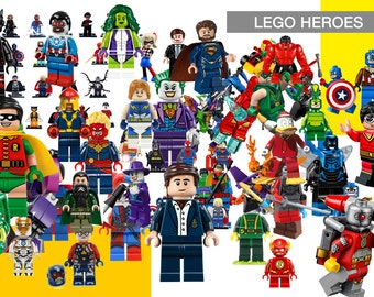77 Lego Heroes ClipArt - Digital , PNG, image, picture,  oil painting, drawing,llustration, art , birthday,handicraft