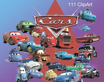 111 +.. Cars ClipArt, Cars, Cars 2, Cars 3  ClipArt - Digital , PNG, image, picture,llustration, art , birthday,handicraft