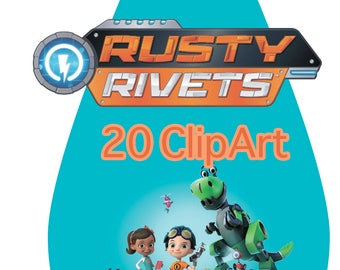 20 Rusty Rivets ClipArt - Digital , PNG, image, picture,  oil painting, drawing,llustration, art , birthday,handicraft