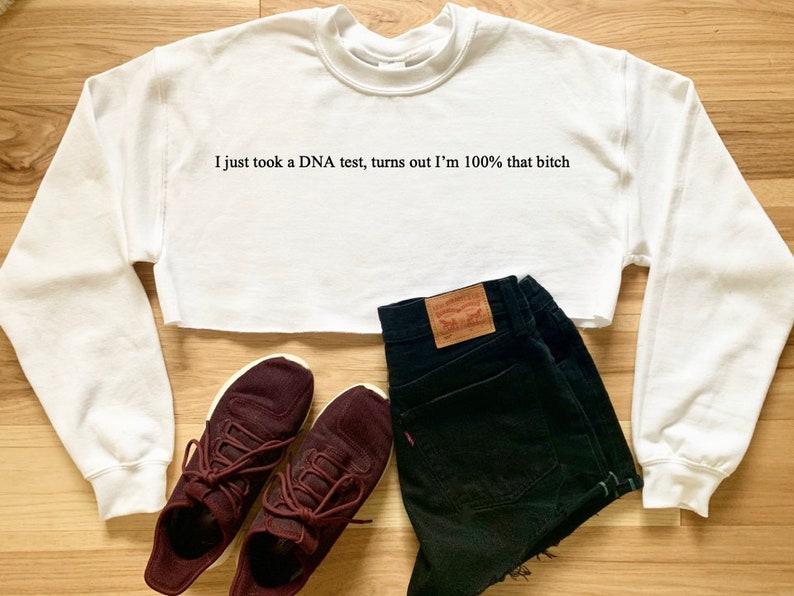 Lizzo Truth Hurts 100% That Bitch Song Lyrics Cropped Sweater Sweatshirt