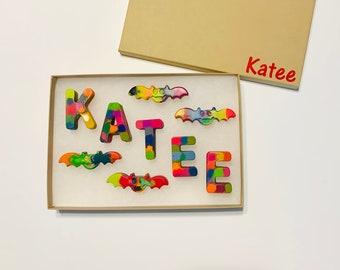 Personalized Gift, Trick Or Treat, Halloween Gift, Kids Gift, Gifts Under Twenty, Childrens Gift, Kids Present, Halloween Treat, Crayons