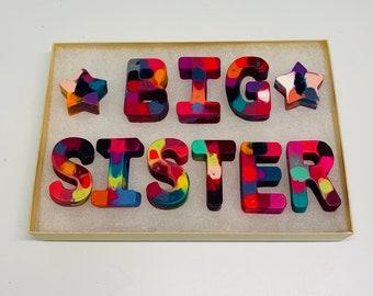 Big Sister Gift, Crayons, Big Sister Crayons, Pregnancy Reveal, Big Sister Reveal, Pregnancy Announcement, Big Sister, Gifts Under Twenty