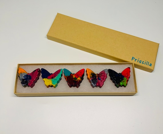 Butterfly Crayon Kid Art Supplies Unique Gifts for Kids Set of 4
