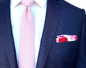 Mauve Linen Tie