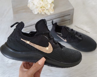 Bling Nike Free TR 8 Shoes with Gold Swarovski Crystals aa296cb03