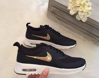 buy popular e6910 a597c Bling Nike Air Max Thea Shoes with Rose Gold warovski Crystals