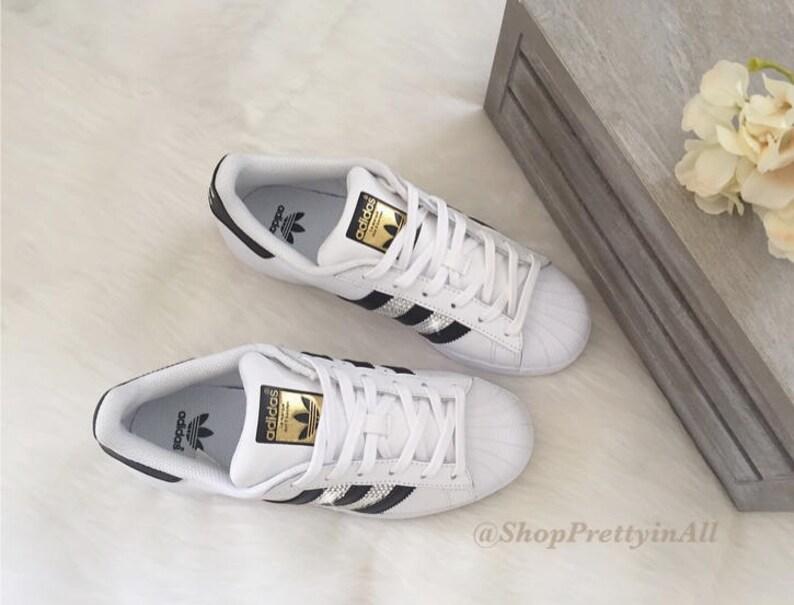 Benutzerdefinierte Adidas Original Superstar mit Swarovski Kristallen