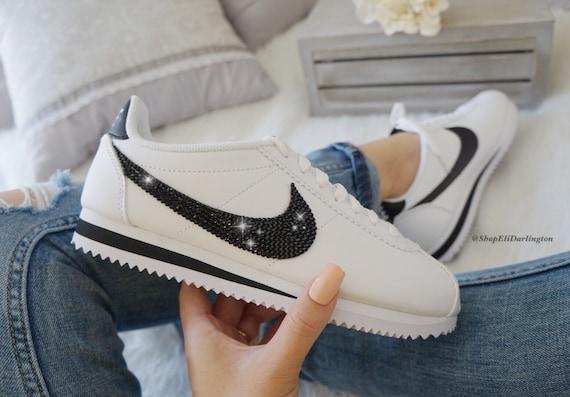 Swarovski Nike Cortez Shoes Blinged