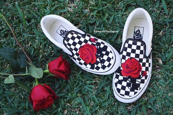 vans rose rouge