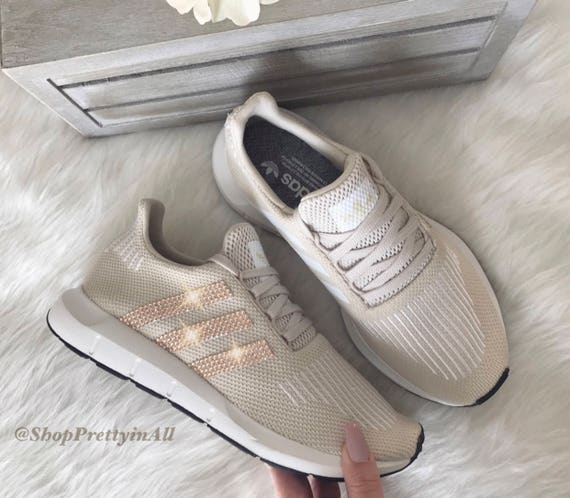 Women s Adidas Swift Run Casual Shoes with Rose Gold  c34993a597