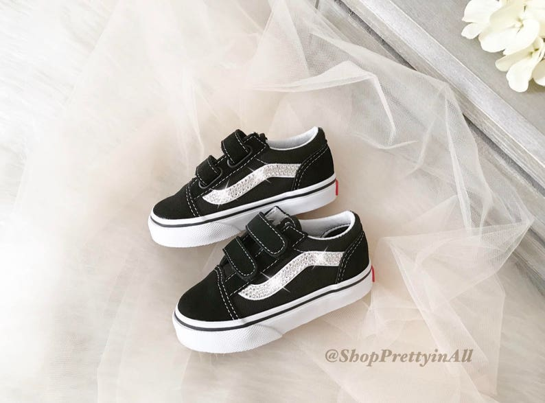 7e771b5c34a Blinged Baby Girl s Old Skool Vans Shoes Customized with