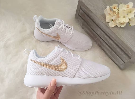 009eeb53ded14a Bling Nike Roshe Shoes with Rose Gold Swarovski Crystals