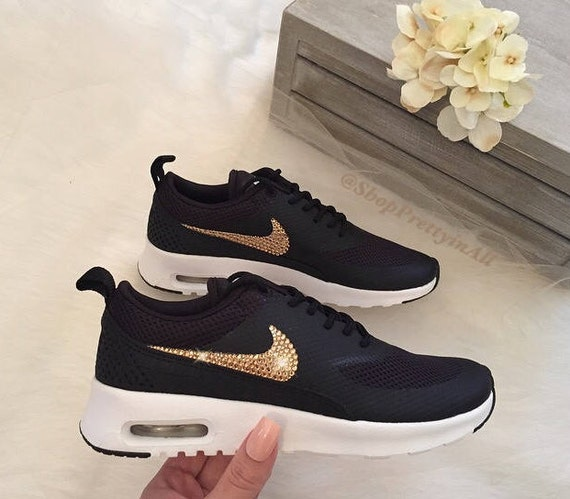 Bling Nike Air Max Thea Shoes with Classic Silver Swarovski Crystals