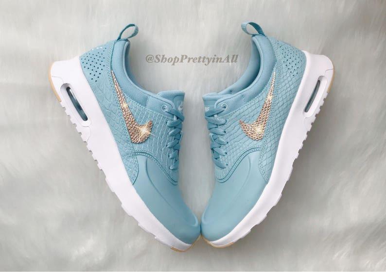 Bling Nike Air Max Thea Premium Shoes with Rose Gold Swarovski Crystals