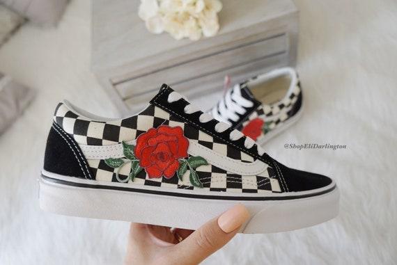 vans roses rouge