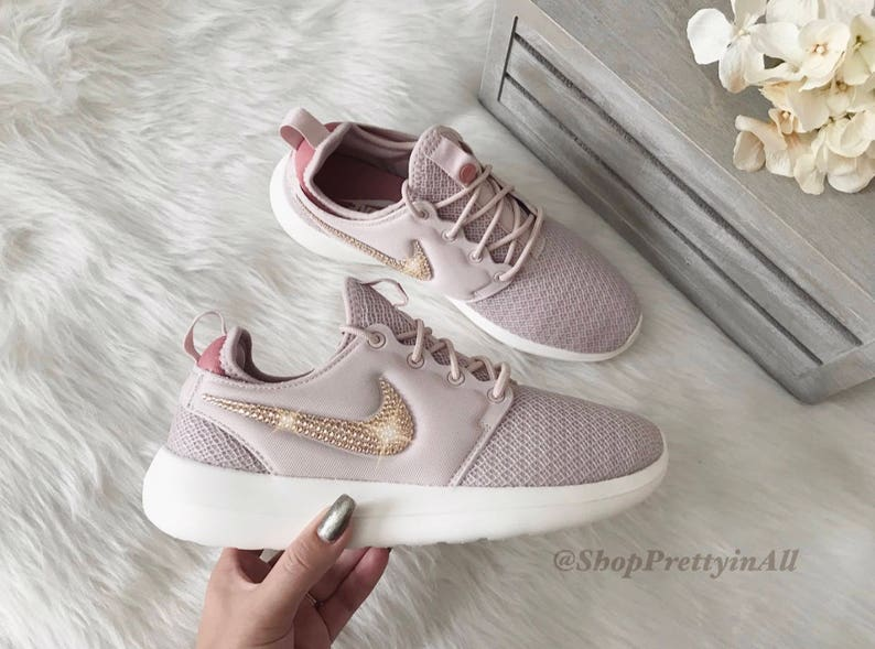 6ef747a10a67 Bling Nike Roshe Two Shoes with Rose Gold Swarovski Crystals