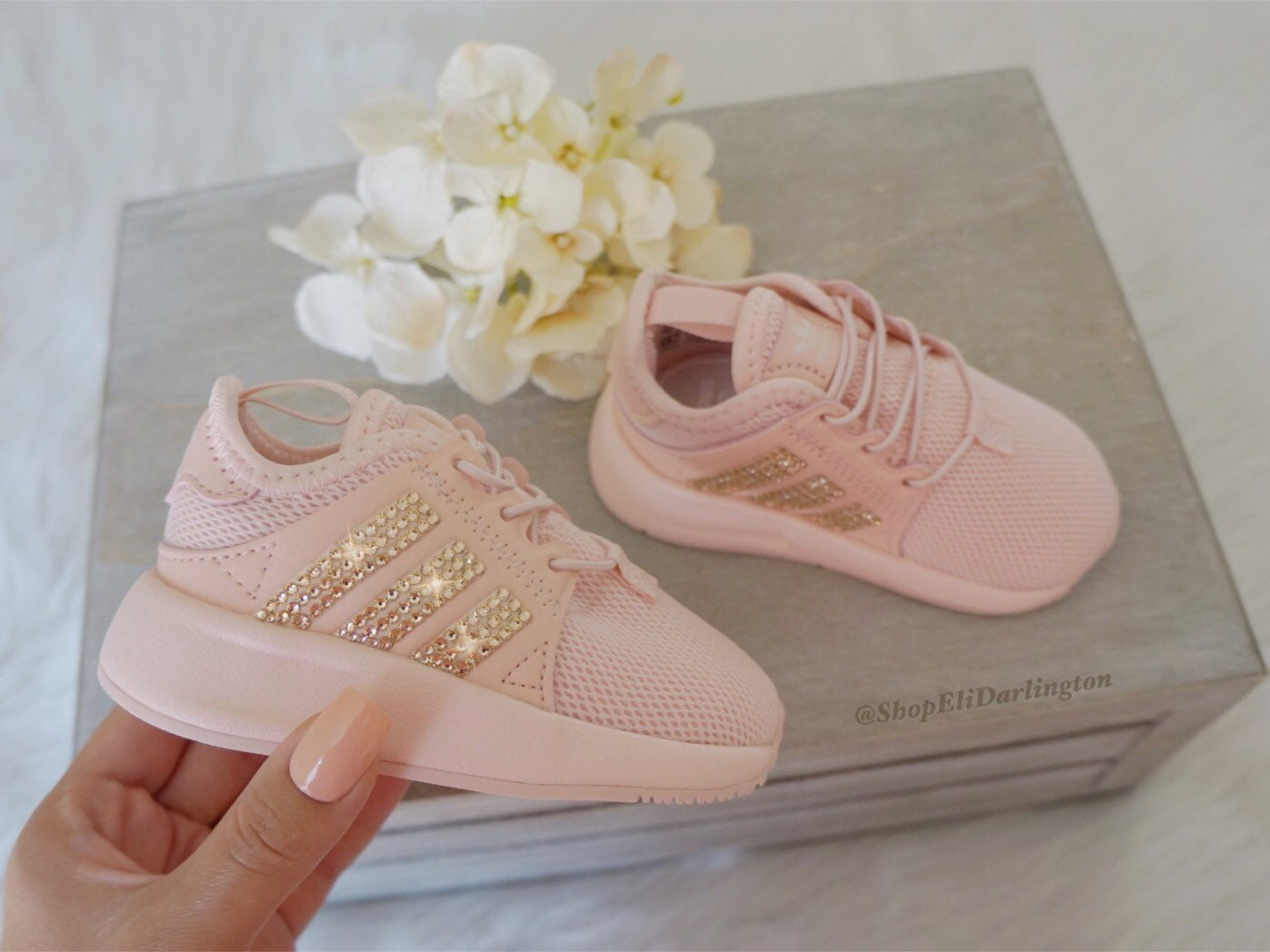 san francisco ab7dc fbffd Adidas Originals XPLR Kids Casual Shoes with Rose Gold   Etsy