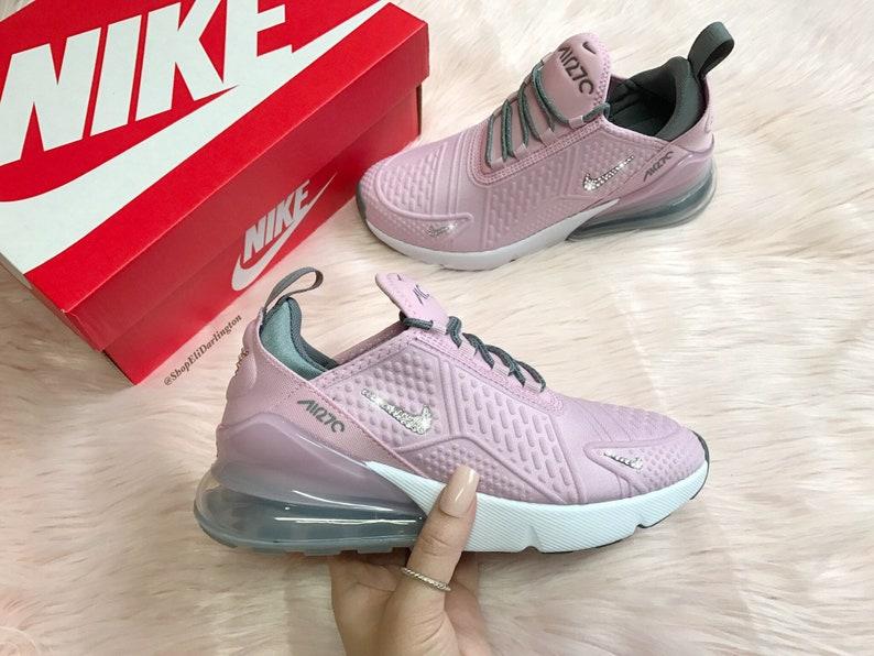 Swarovski bling Nike Air Max 270 chaussures en argent