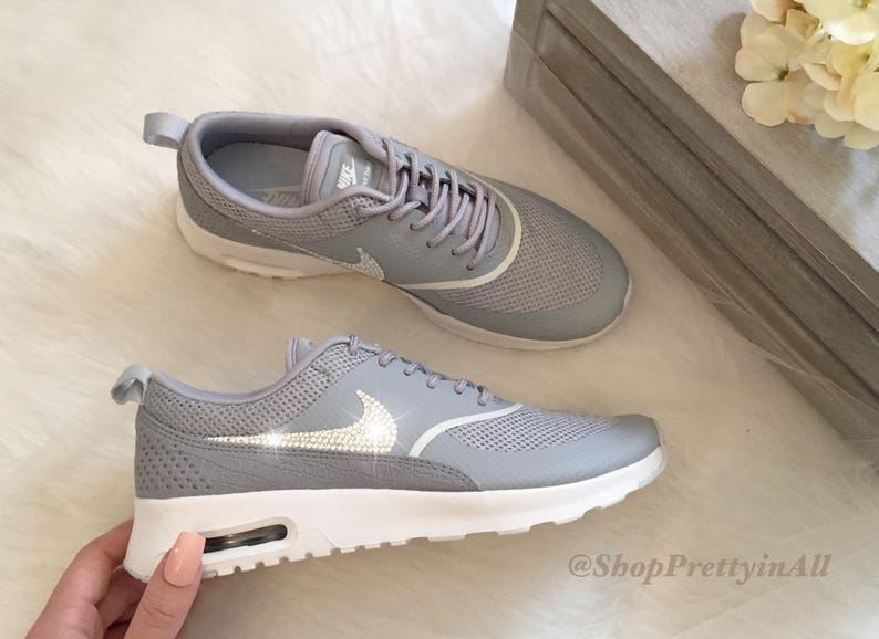 57ddc3b536ec SALE Size 9 Bling Nike Air Max Thea Shoes with Classic Silver