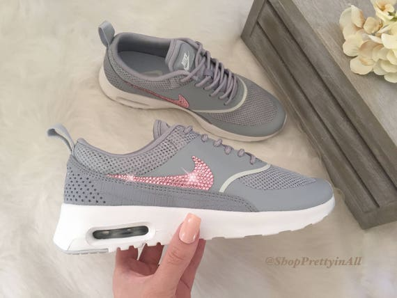 Bling Nike Air Max Thea Shoes with Pink Swarovski Crystals  dd4aa2b7ef2e