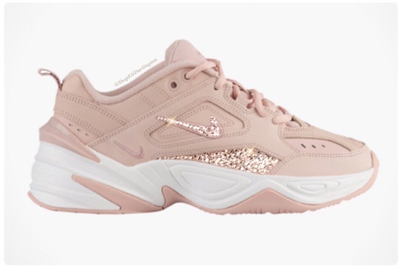 FREE SHIPPING Swarovski Nike M2K Tekno Shoes Embellished in Rose Gold  Swarovski Crystals, Free Domestic Shipping