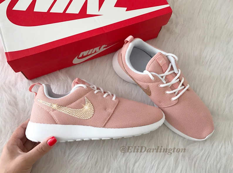 59bcd3115dc3b FREE SHIPPING Custom Bling Nike Roshe One Shoes Swarovski Crystals Free  Domestic Shipping
