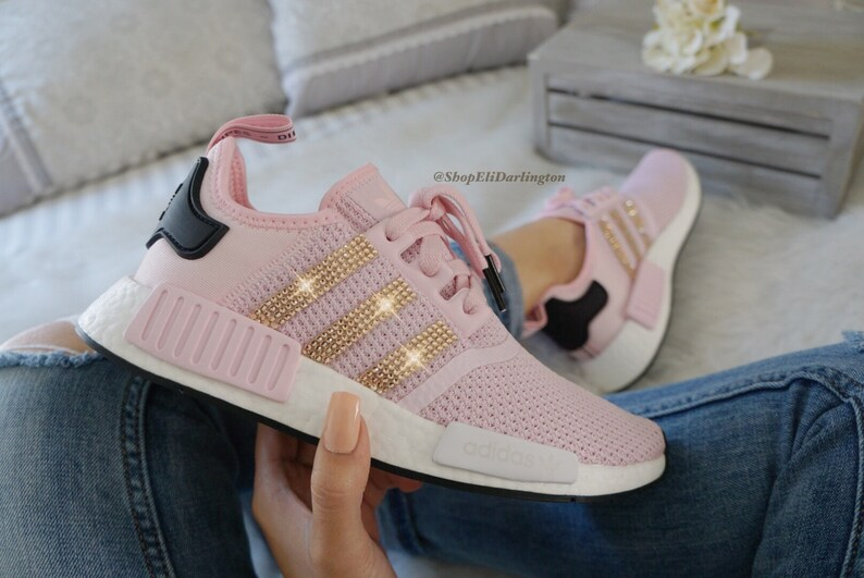 351a2a8ca7fc Women s Adidas NMD Shoes with Rose Gold Swarovski Crystals