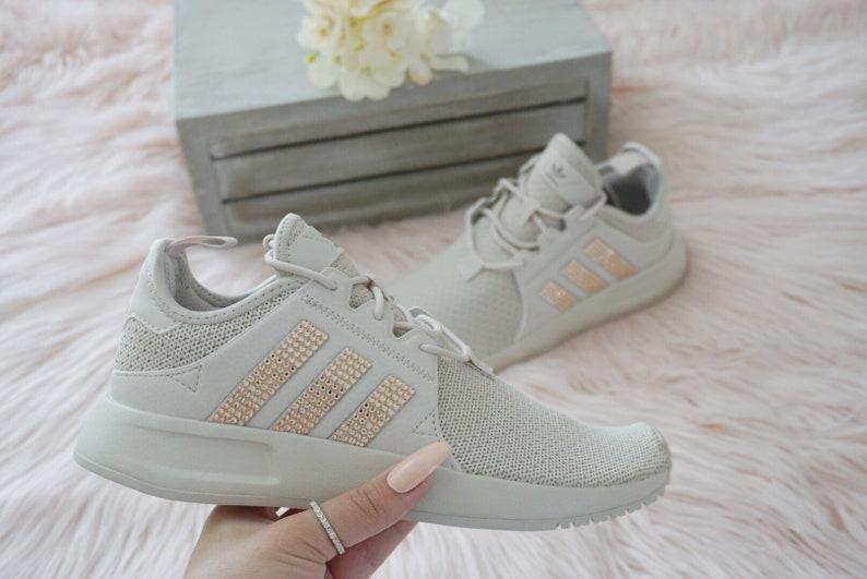 Adidas Originals XPLR Filles Chaussures décontractées pour femmes avec swarovski or sur rayures