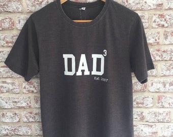Dad T-Shirt- Dark Grey, Crew Neck