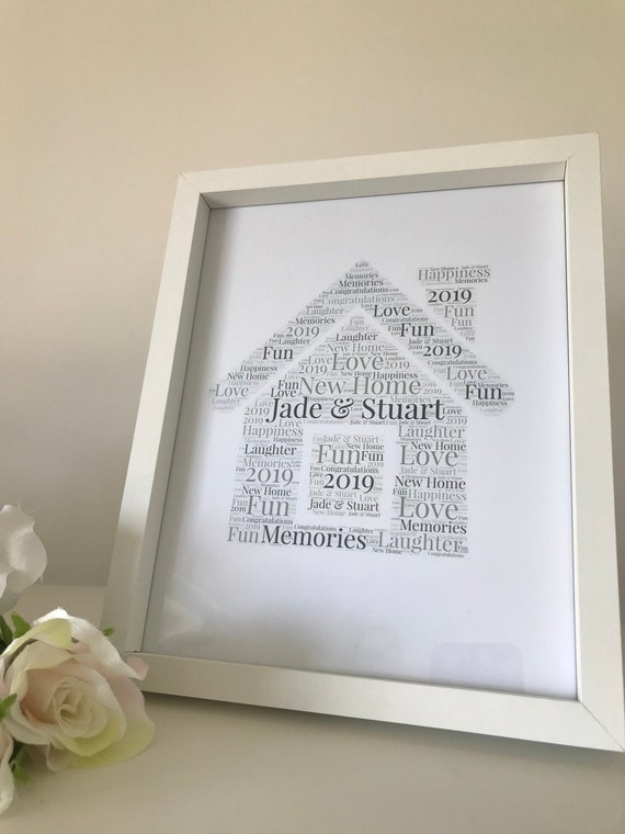 Personalised Word Art Hen print A4 wedding party thank you gift