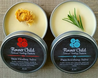 Heal Naturally with this wonderful bundle- Pain Soothing & Skin Healing Salve 4oz