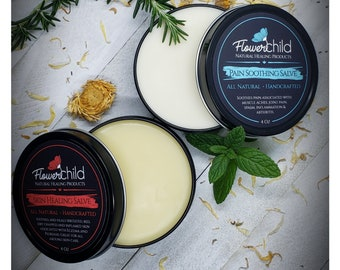 Pain Soothing & Skin Healing Salve 4 oz Healing Bundle