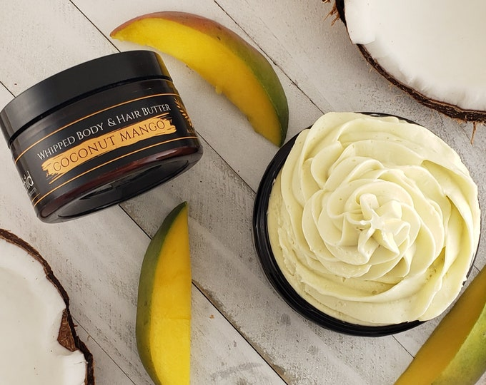 Featured listing image: Coconut Mango Whipped Body & Hair Butter