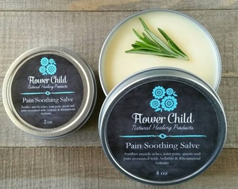 Pain Soothing Salve for Muscle Aches, Joint Pain, Spasm, Arthritis & Rheumatoid- Long Lasting!