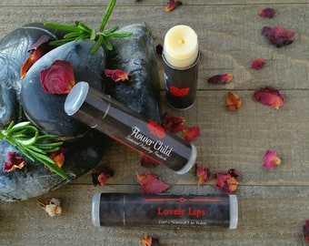 Lovely Lips Healing Lip Balm-Soothes and aides in the healing of wind, chapped, sun-burnt lips. Keeps lips soft throughout the day!