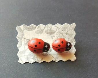 Earrings with Ladybug motif