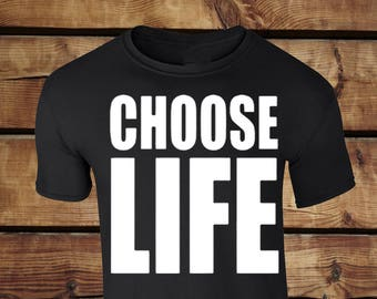 Choose Life Tee Clothing Top - Choose Life Retro Fancy Dress INSPIRED fancy top clothing