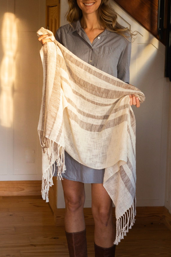 Linen & Cotton Handwoven Scarf