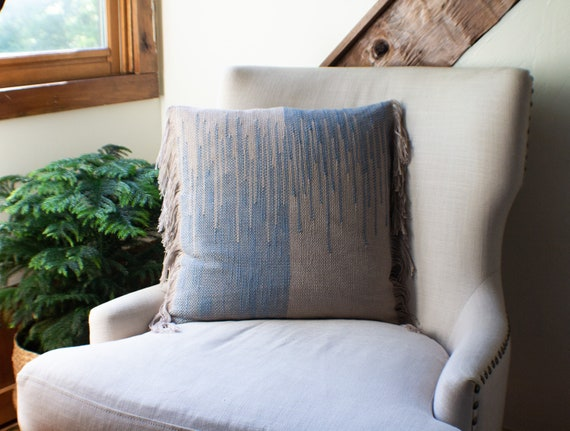 Handwoven  Linen & Cotton pillow
