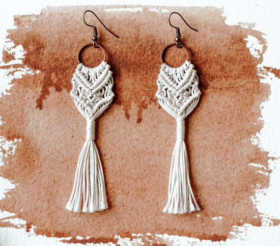 Art You Wear: Macrame Earrings