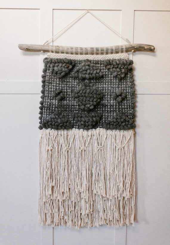 Gray Alpaca Pibione Weaving- geometric