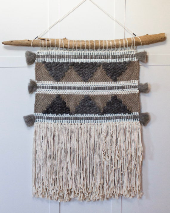 Alpaca & Wool Triangle Weaving