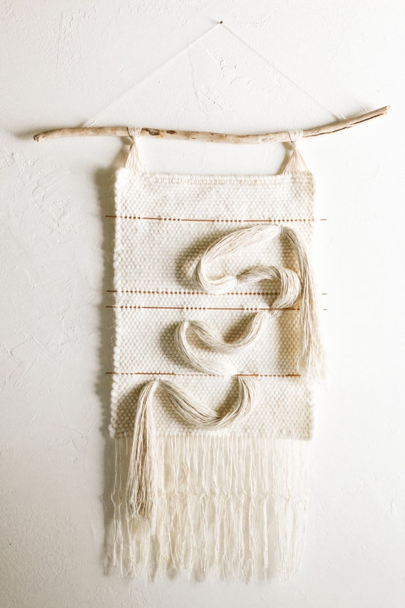 Handwoven- Wool, Linen and Copper Tapestry