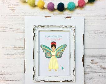 Wings to Fly Little Frida Kahlo Art Print